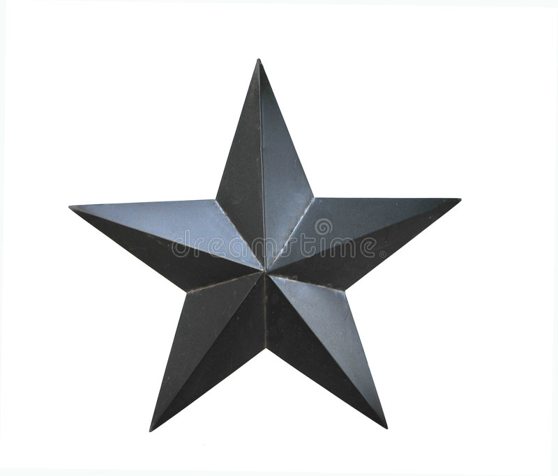 Étoile noire sur un fond blanc image libre de droits
