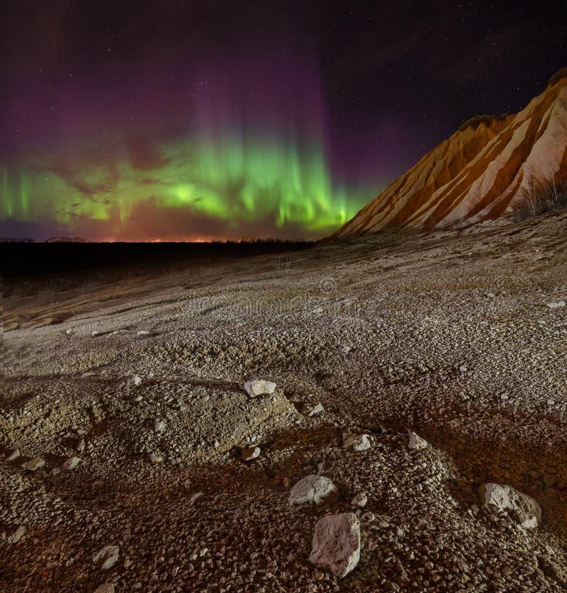 Étoile polaire de l'aurore dans la région de Léningrad image stock