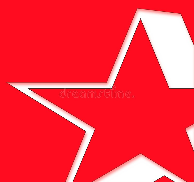 Étoile rouge illustration stock