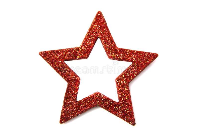 Étoile rouge de scintillement photo stock