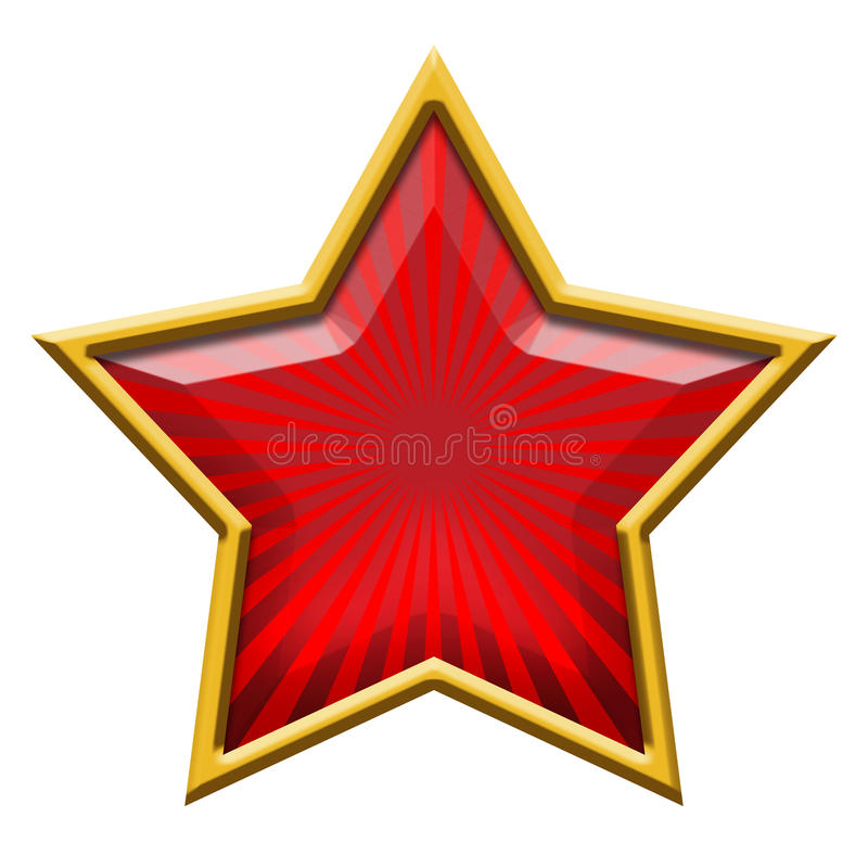 Étoile rouge en or illustration stock