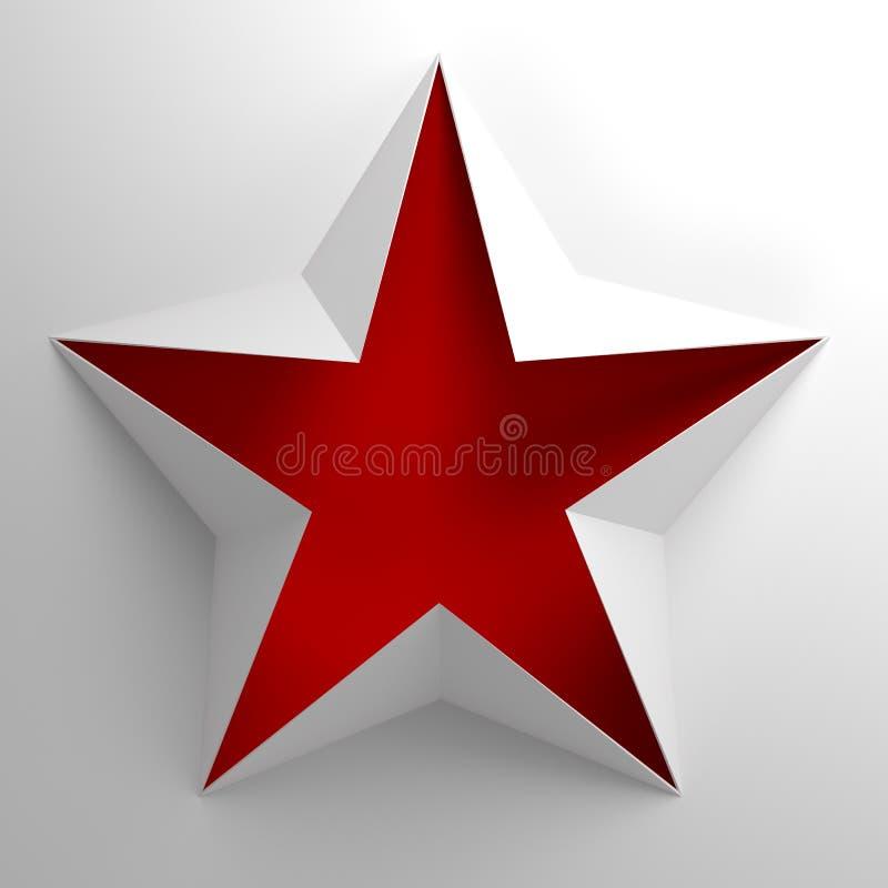 Étoile rouge symbolique d'isolement illustration de vecteur