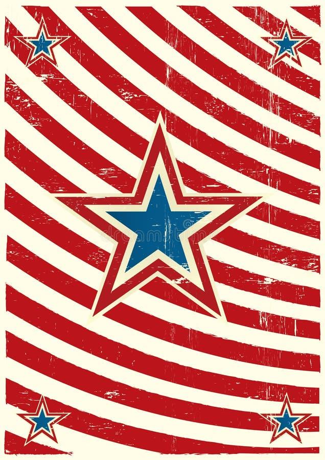 Étoile sale nous fond illustration stock