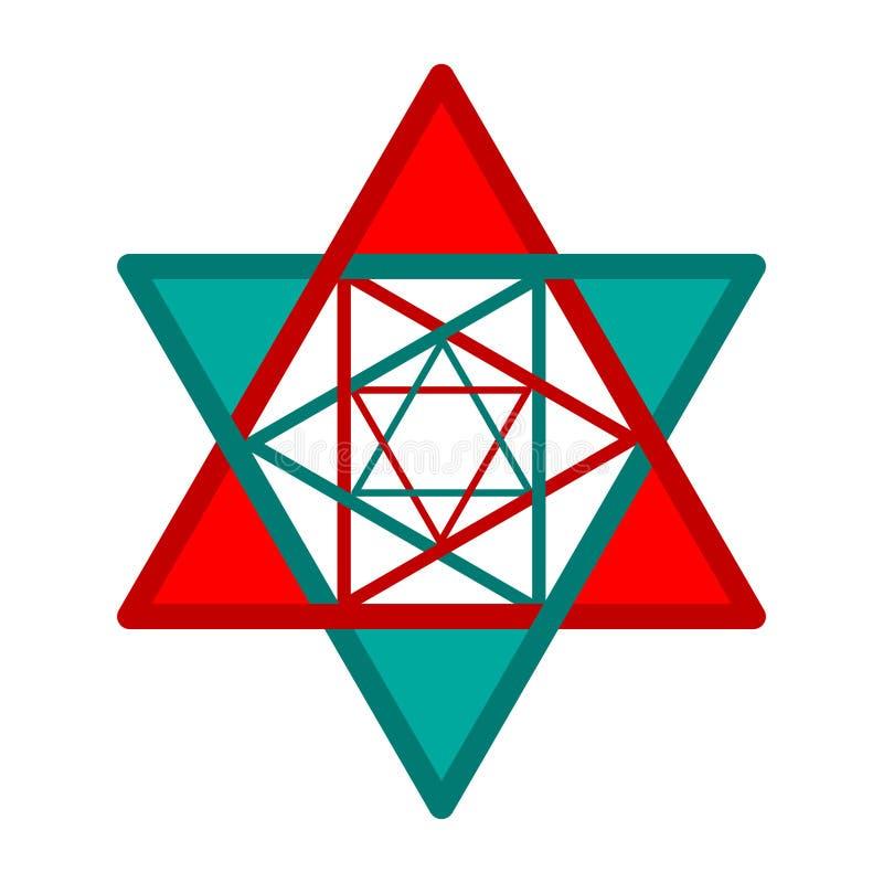 étoile Six-aiguë illustration de vecteur