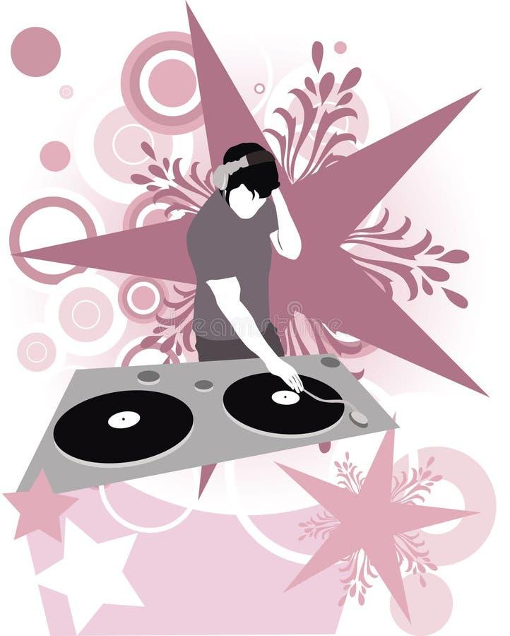 Étoile superbe du DJ illustration de vecteur