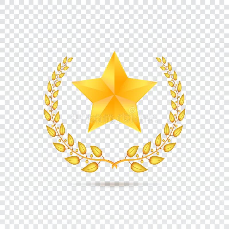Étoile sur le fond transparent illustration libre de droits