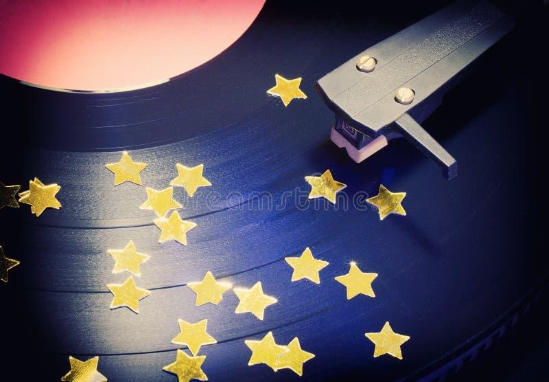 Étoile sur le vinyle image libre de droits