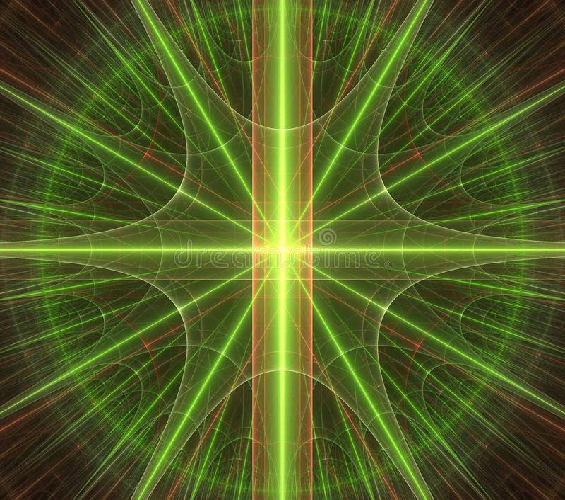 Étoile verte, ornamentn, modèle illustration stock