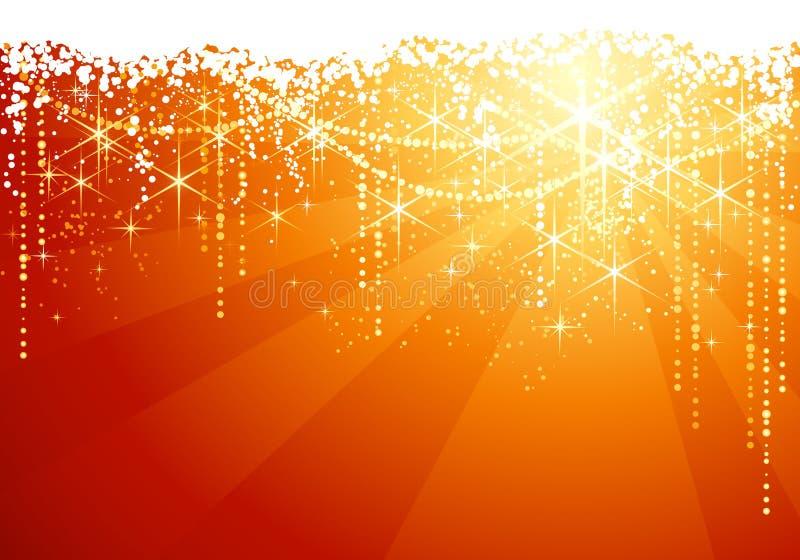 Étoiles/étincelle magiques de Noël illustration stock