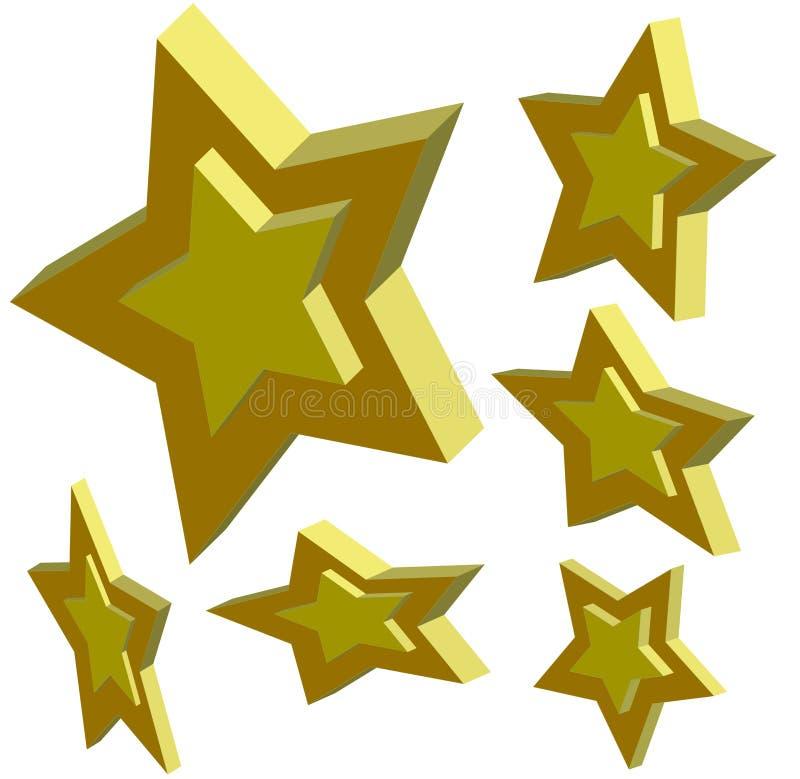 étoiles 3d illustration de vecteur
