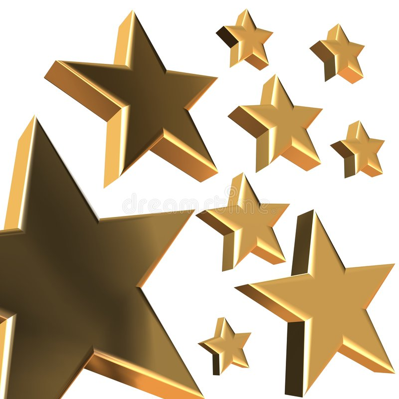 étoiles 3D illustration libre de droits