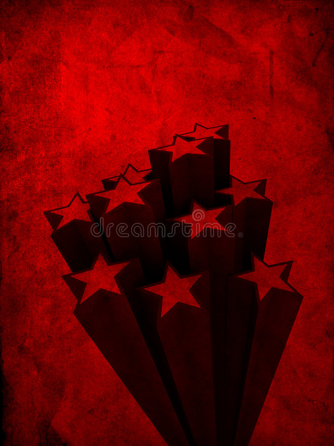 Étoiles abstraites illustration stock