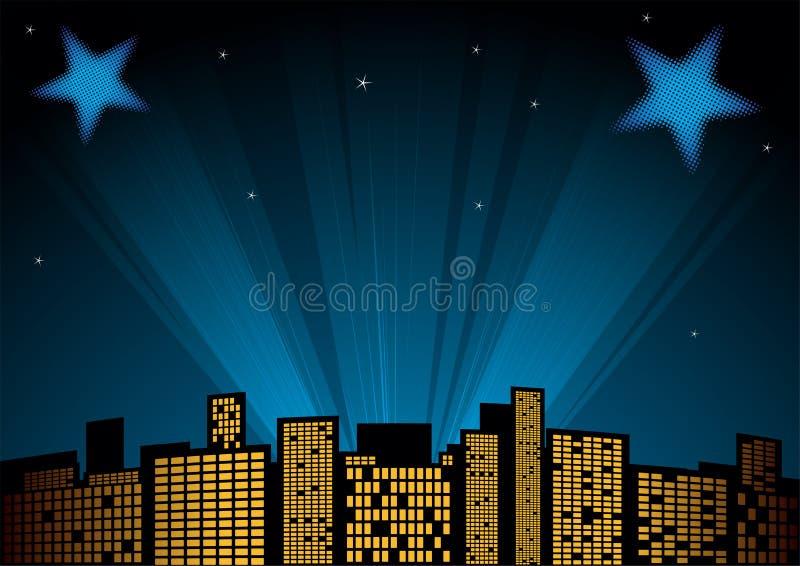 Étoiles au ciel illustration de vecteur
