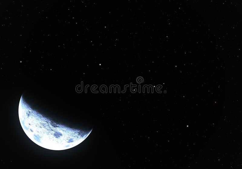 Étoiles avec la lune illustration de vecteur