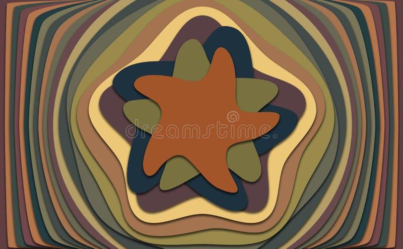 Étoiles avec la profondeur illustration de vecteur