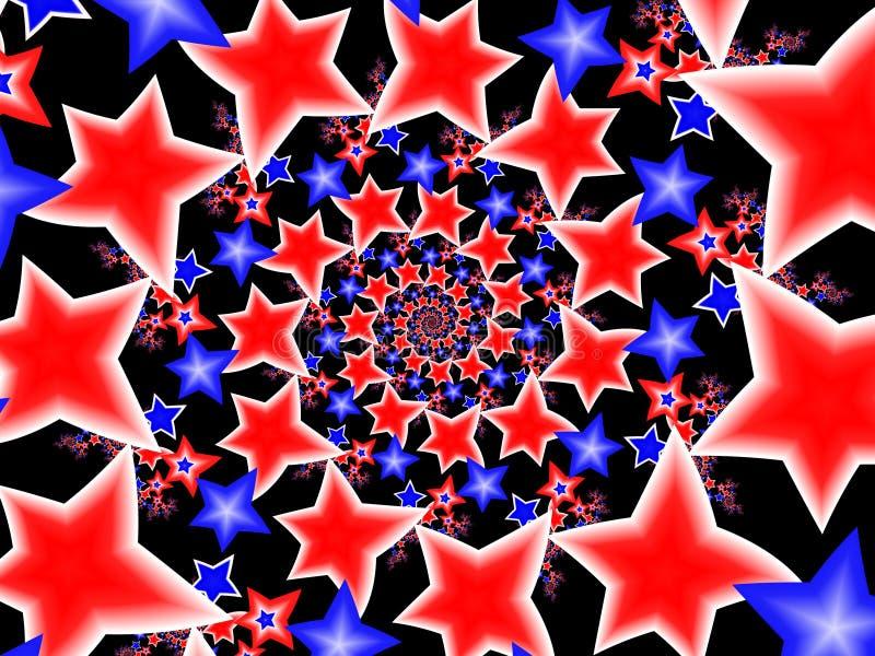 Étoiles blanches et bleues rouges illustration de vecteur