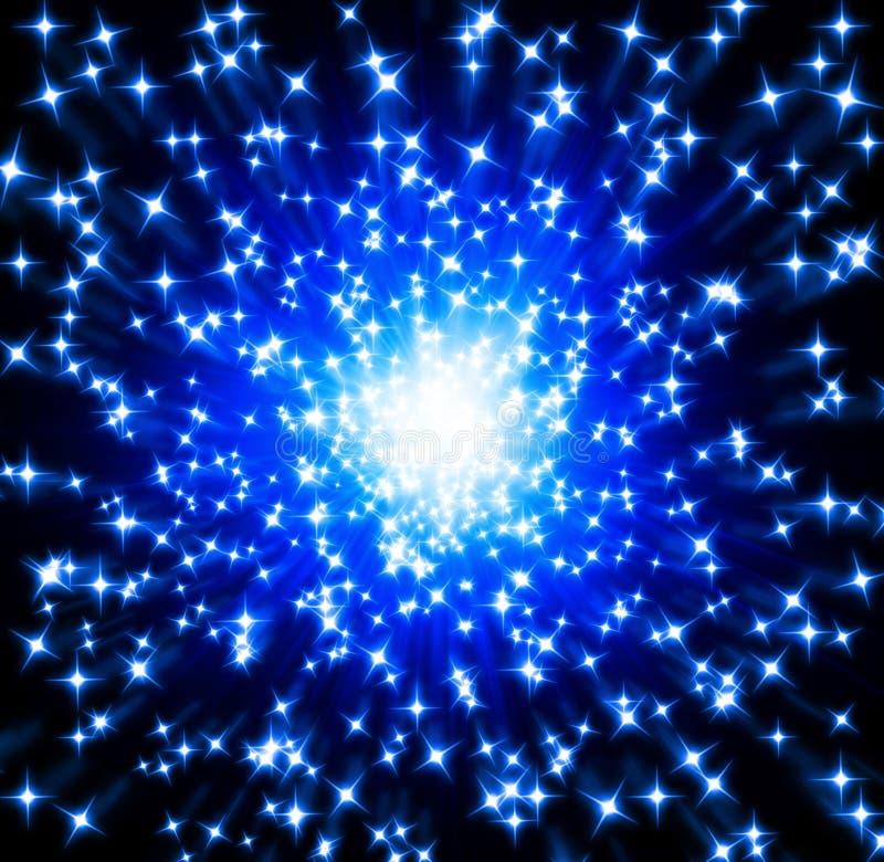 Étoiles bleues illustration de vecteur