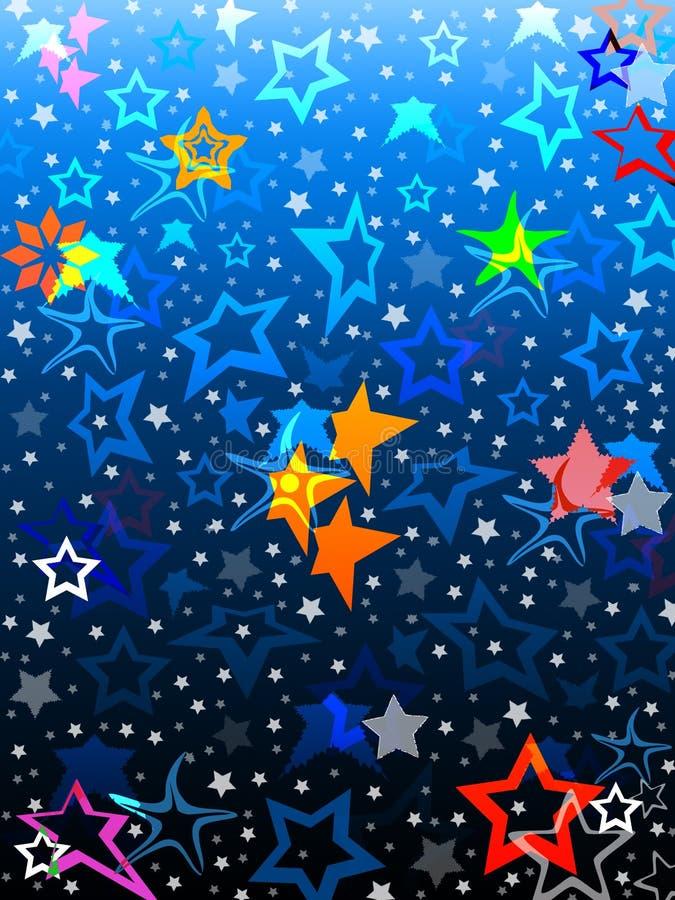 Étoiles colorées illustration de vecteur