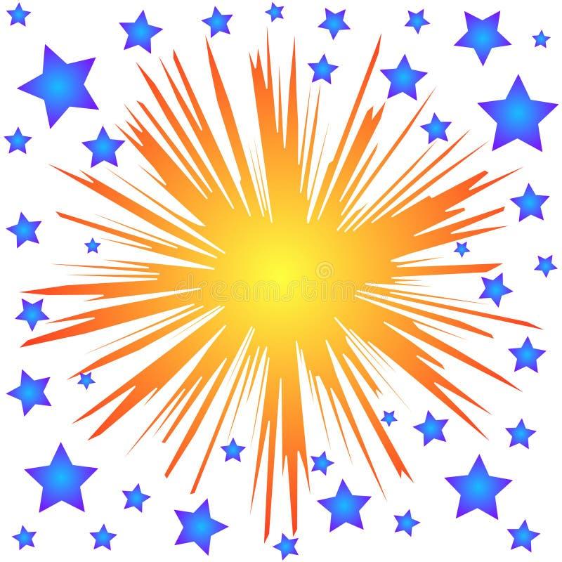 Étoiles d'éclaboussure illustration stock