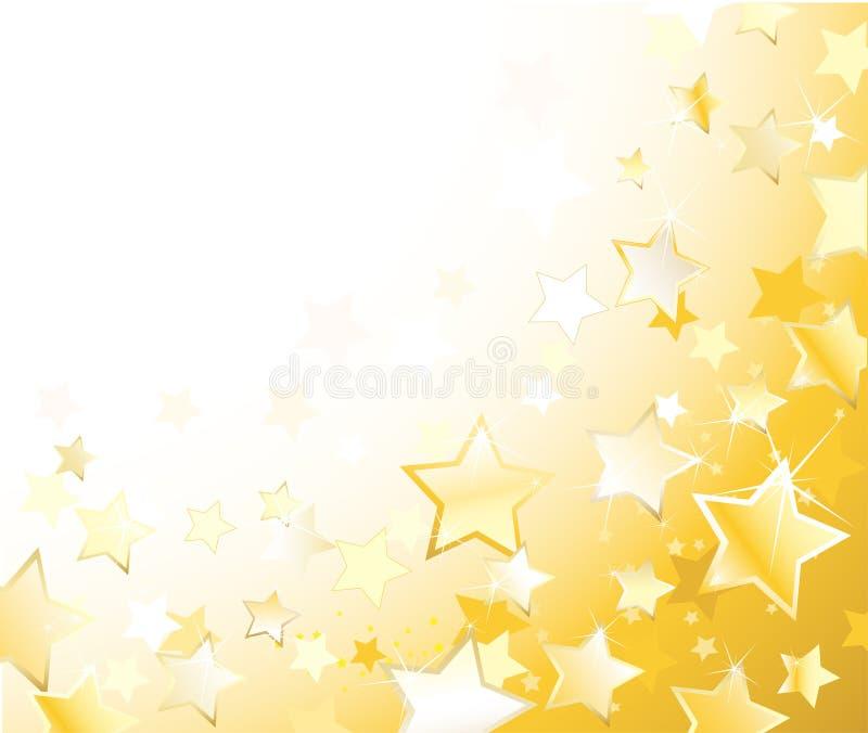 Étoiles d'or photo stock