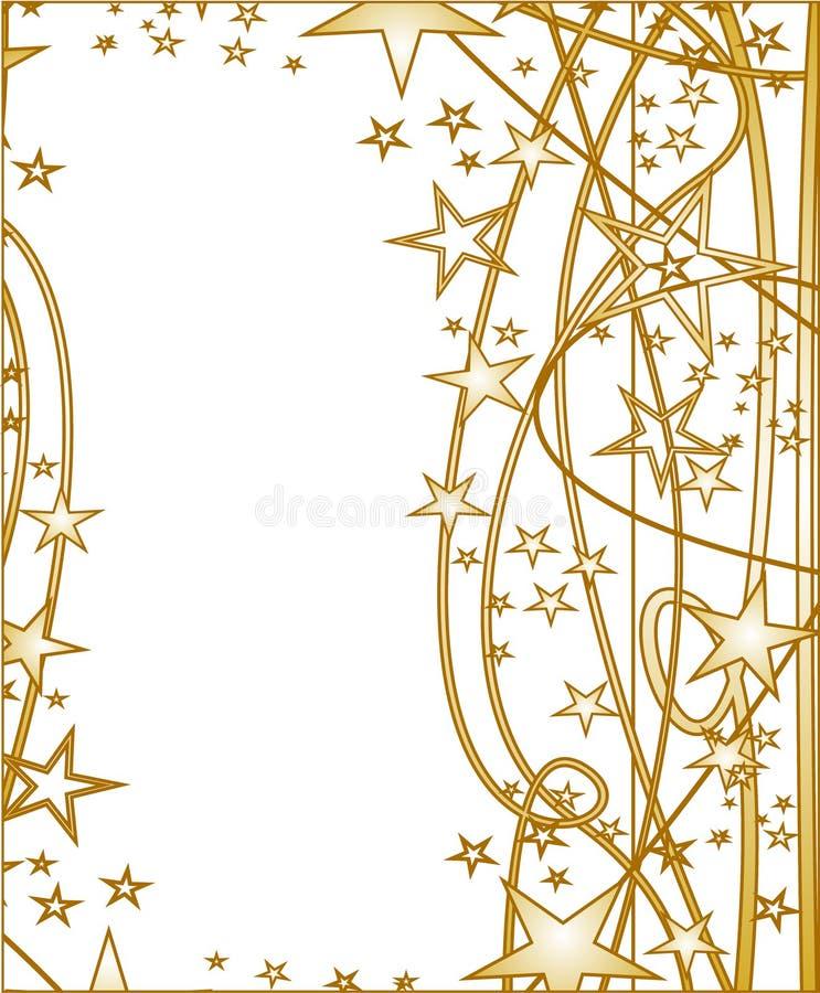 Download Étoiles d'or illustration stock. Illustration du snowflake - 45368982