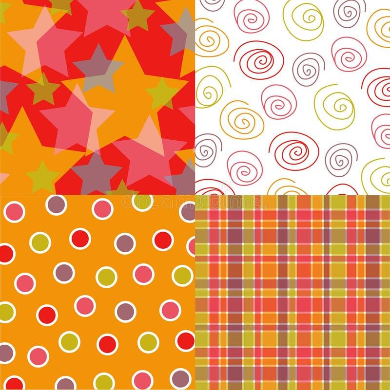 Étoiles d'amusement et quartes de configuration illustration stock