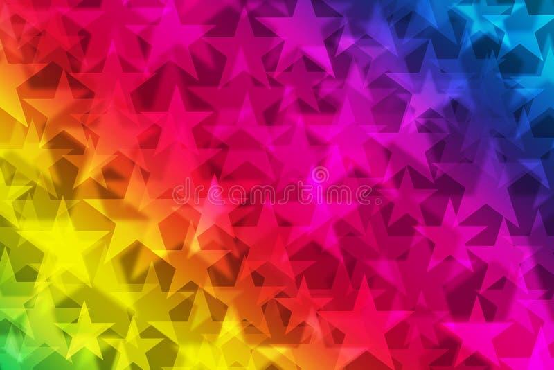 Étoiles d'arc-en-ciel illustration libre de droits