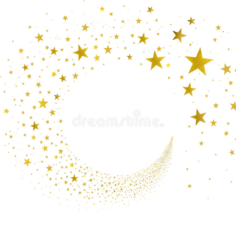 Étoiles d'or de courant illustration stock
