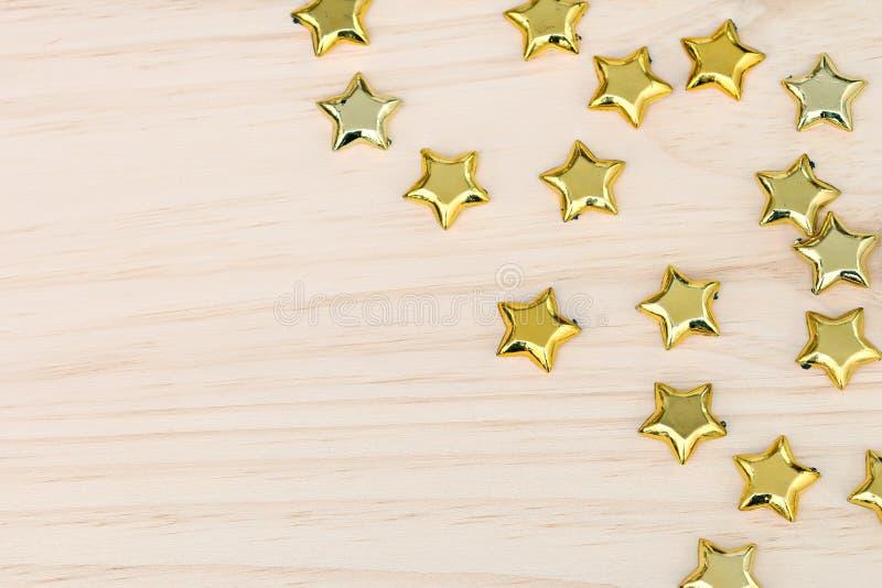 Étoiles d'or de Noël images stock