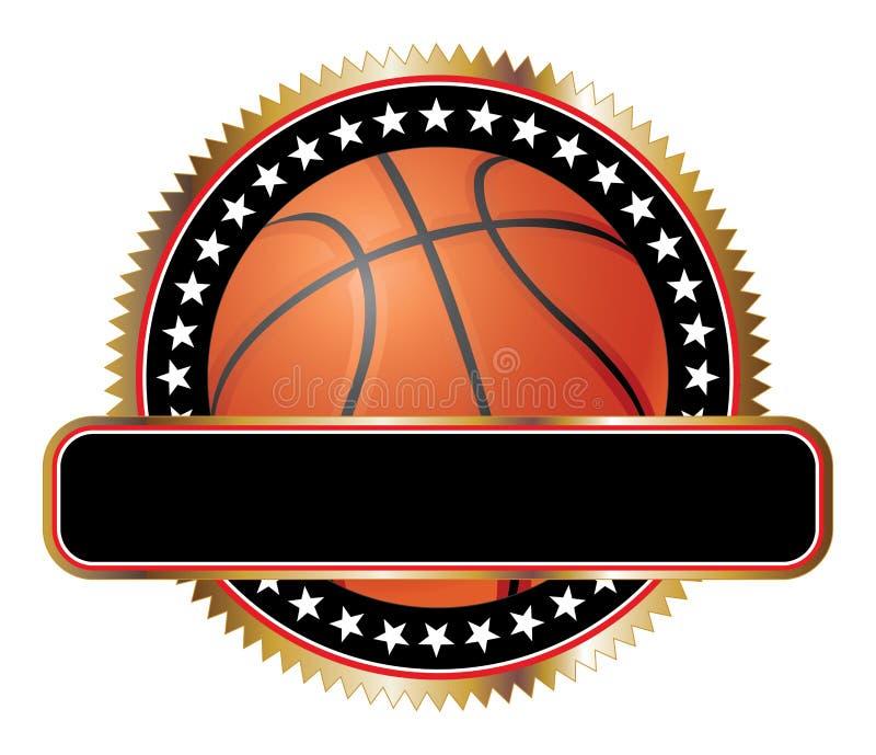 Étoiles D Emblème De Conception De Basket-ball Image stock