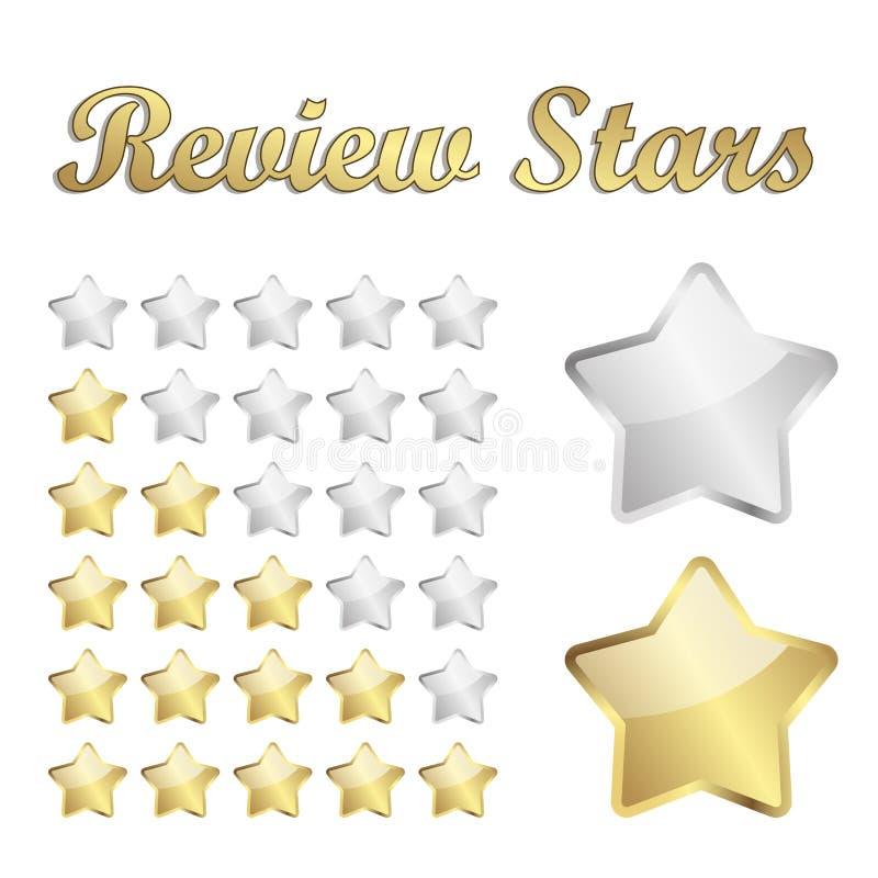Étoiles d'examen illustration libre de droits