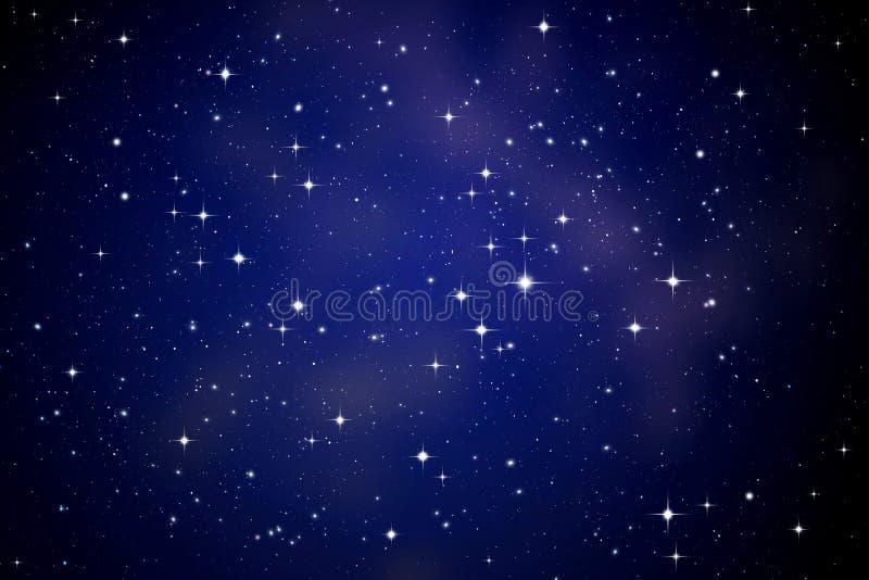 Étoiles dans le ciel de nuit photos stock