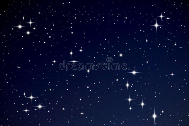 Étoiles dans le ciel de nuit photographie stock libre de droits