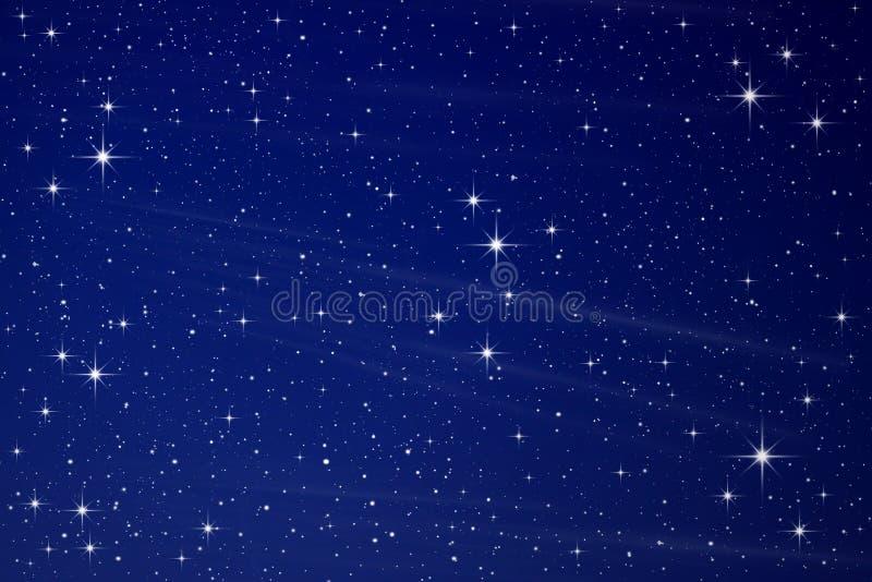 Étoiles dans le ciel de nuit images libres de droits