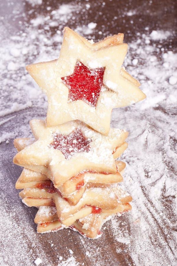 Étoiles de biscuits de gelée photo stock