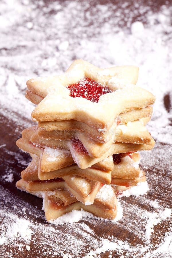 Étoiles de biscuits de gelée photographie stock