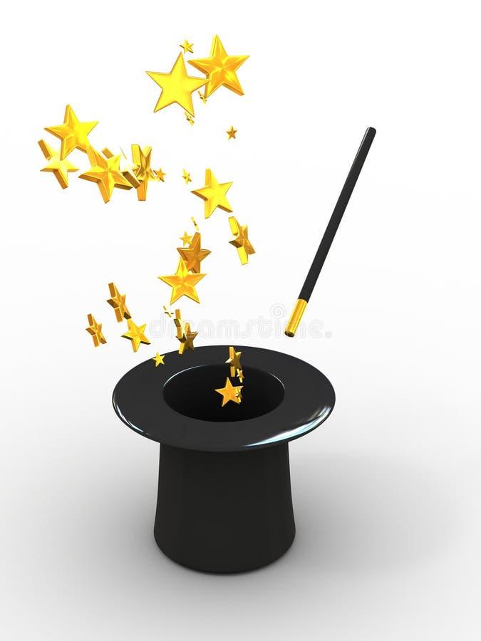 Étoiles de chapeau illustration libre de droits