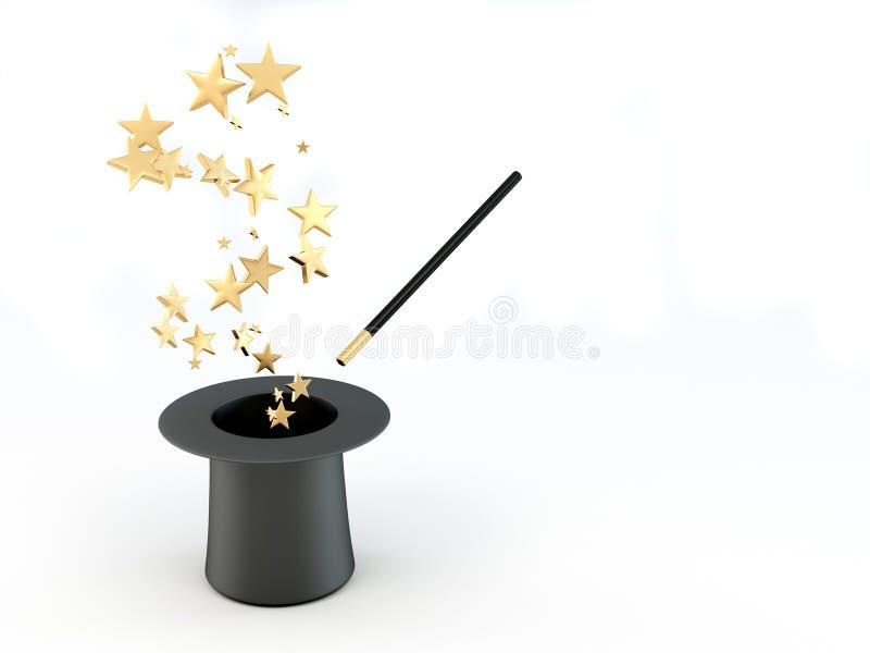 Étoiles de chapeau illustration stock