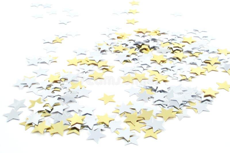 Étoiles de confettis image stock