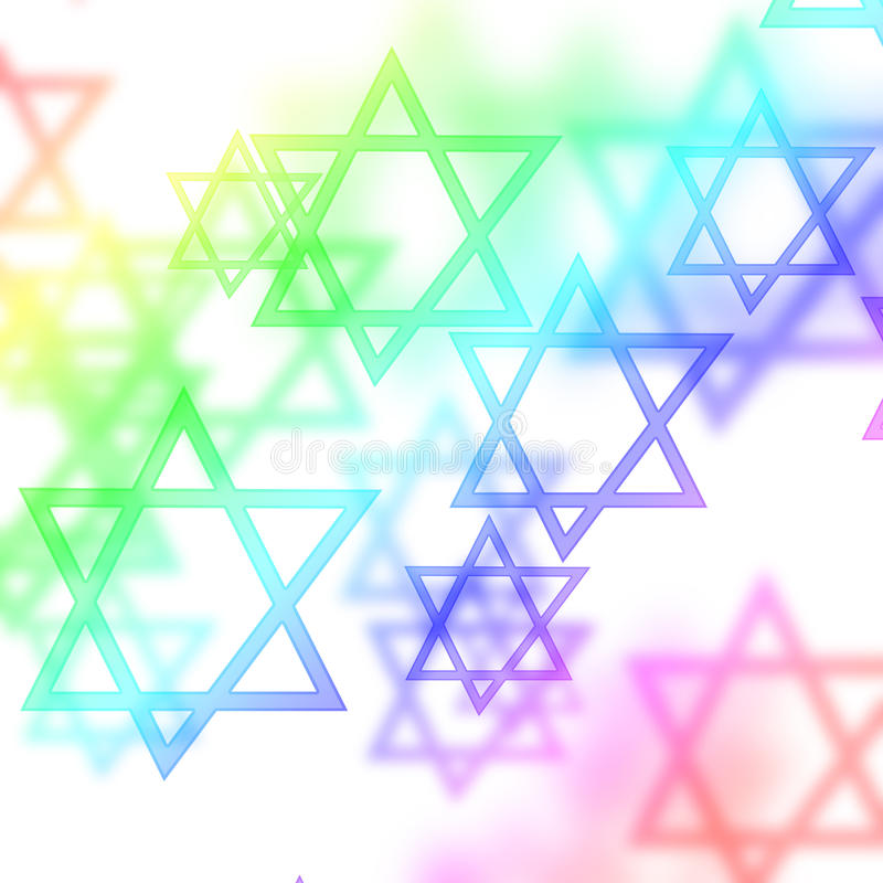 Étoiles de David illustration libre de droits