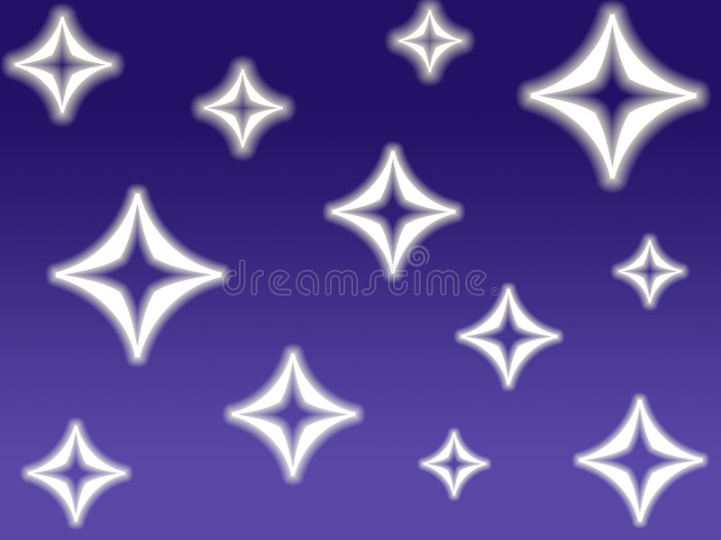 Étoiles de diamant illustration stock