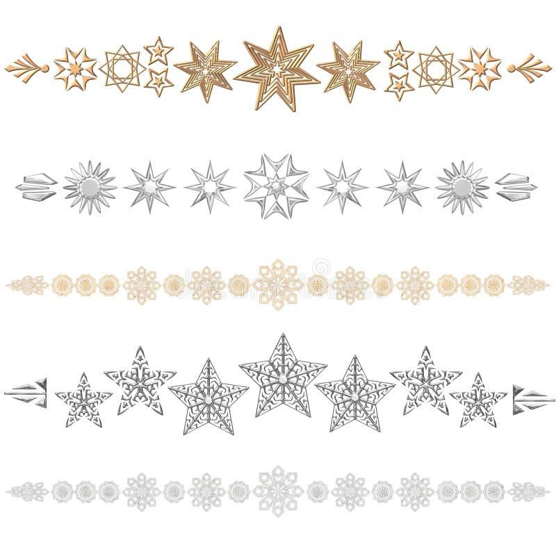 étoiles de diviseur illustration libre de droits
