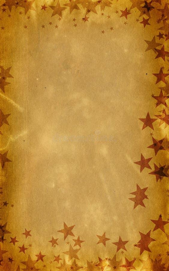 étoiles de fête de réception de Noël de carte de fond images libres de droits