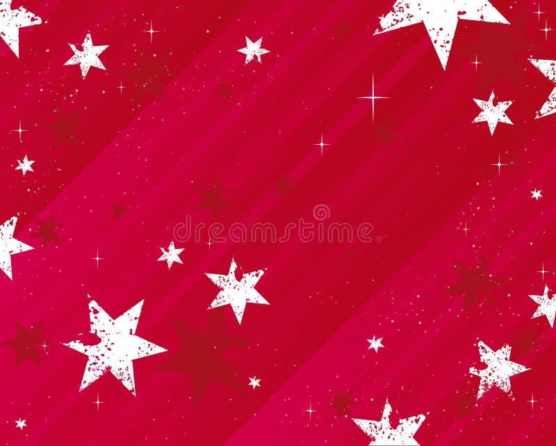 Étoiles de fond de Noël illustration de vecteur