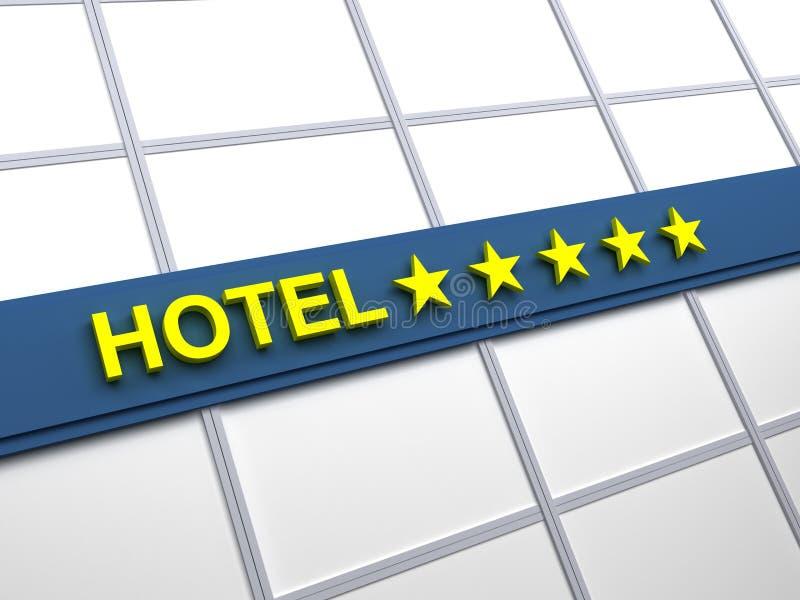 Étoiles de l'hôtel cinq photo stock
