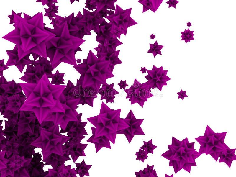 étoiles de la fleur 3d illustration libre de droits