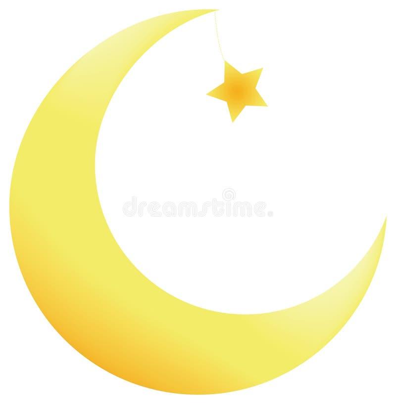 étoiles de lune illustration de vecteur