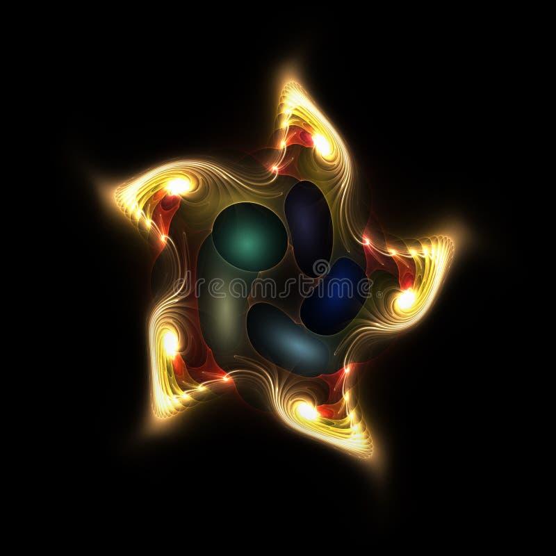 Étoiles de mer étrangères illustration stock