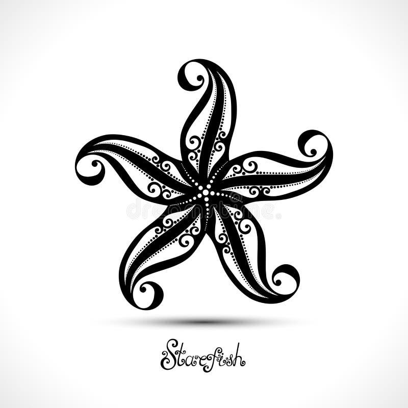 Étoiles de mer abstraites de vecteur illustration de vecteur