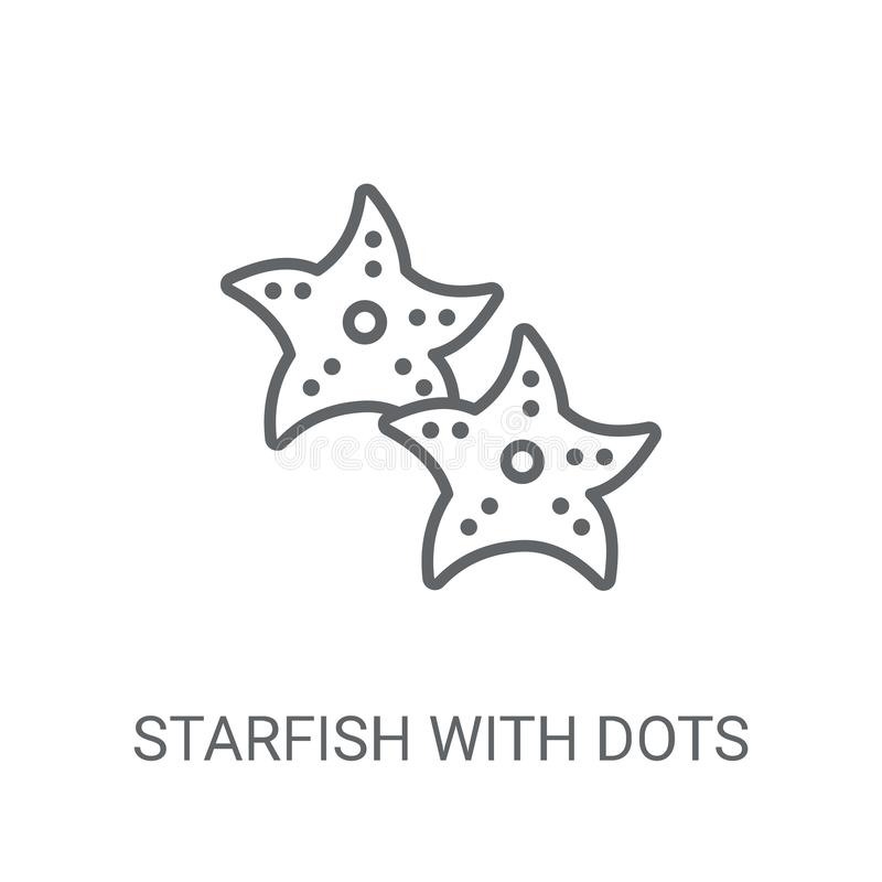 Étoiles de mer avec l'icône de points Étoiles de mer à la mode avec le concept de logo de points illustration de vecteur